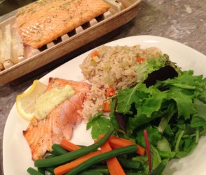 Baked Salmon with Dill Hollandaise Sauce