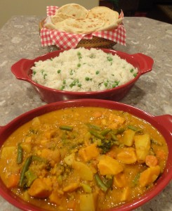 Quick Curried Vegetables