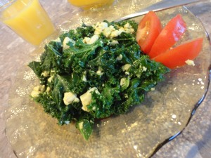 kale, tofu
