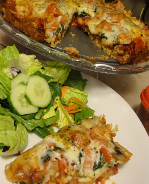 Low Carb Pizza and Salad