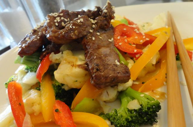 Stir Fry Veg and Beef Strips