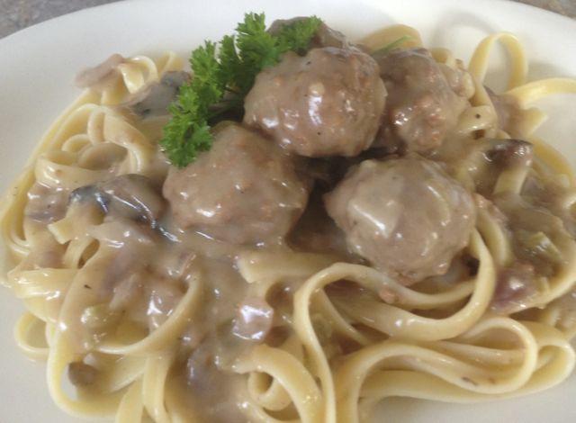 vegetarian Meatball stroganoff