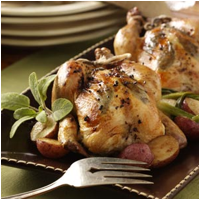 Roasted Cornish Game Hen